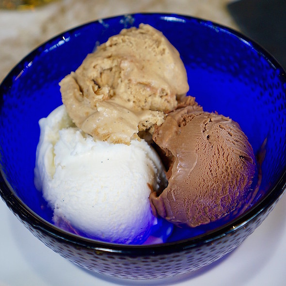 Gelato Trio: Chocolate, Vanilla And Espresso - Culina, Los Angeles, CA