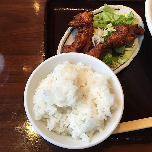 唐揚げ+小ライスセット @ 喜来屋 御幸店