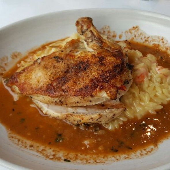 Grilled Chicken With Crawfish Risotto