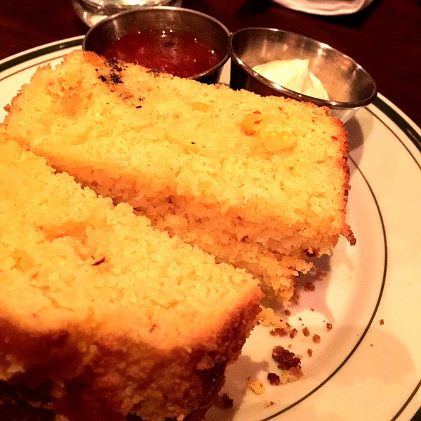 Corn Bread With Honey Butter & Tomato Jam @ Red Rooster