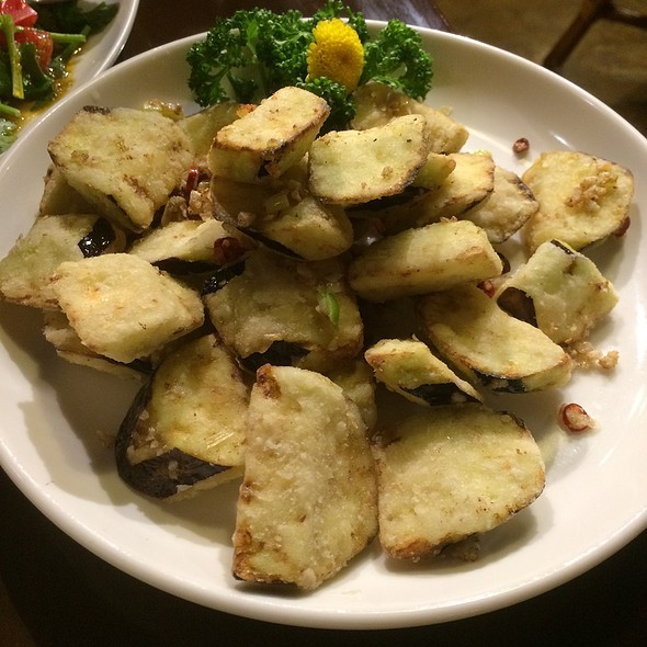 Deep Fried Eggplant With Chinese Peppers