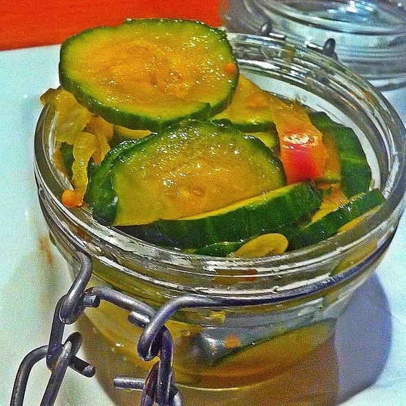 Housemade Bread & Butter Pickles - Seasons 52 - Jacksonville, Jacksonville, FL