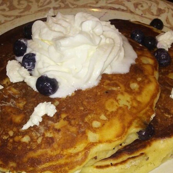 Blueberry Lemon Goat Cheese Pancakes @ Another Broken Egg Cafe
