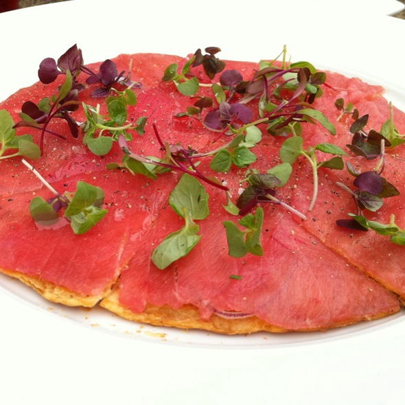 Big Eye Tuna Pizza - Yellowtail - Bellagio, Las Vegas, NV