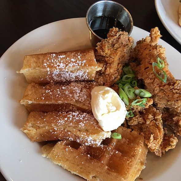 Chicken & Belgian Waffles @ Breakfast Brunch Cafe