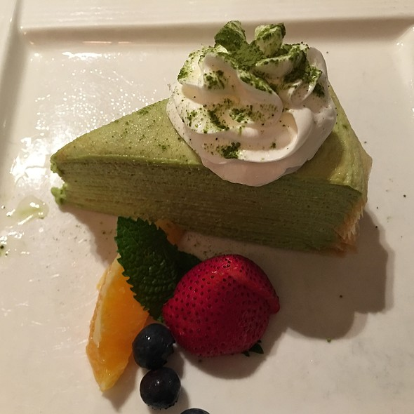 Green Tea Mille Crepe - Sushi of Gari 46, New York, NY