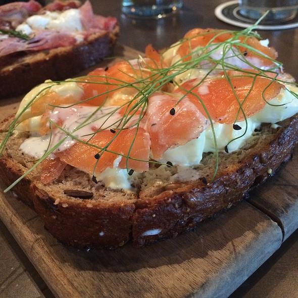 Cured Salmon Plank @ Gram & Dun