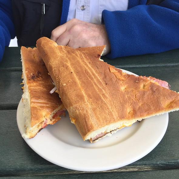 Corned Beef Focaccia Sandwich @ Larkspur Cafe