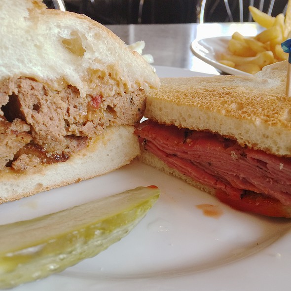 Combo Of Pastrami And Meatloaf Sandwich @ Hector's Cafe