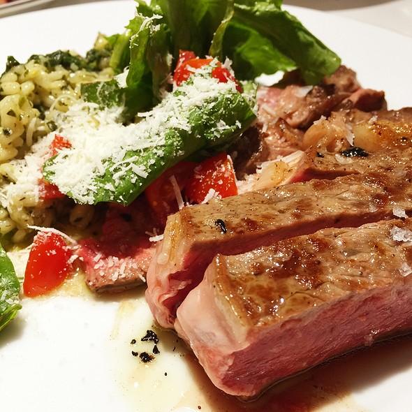 Steak, Basil Risotto, Arugula, Parmesan @ June's Kitchen In New York