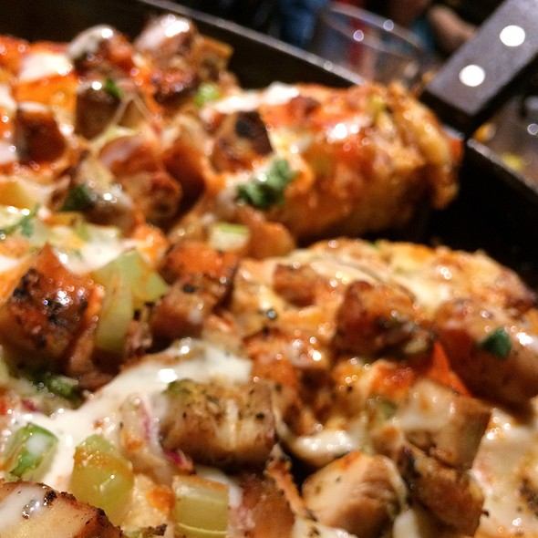 Buffalo Chicken Pizza @ Bj's Restaurant & Brewhouse
