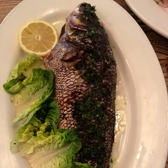 Whole Black Sea Bass With Herb Oil - The Restaurant at The Surf Lodge, Montauk, NY