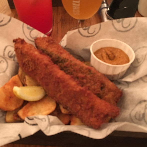Special: Manoj's Ma's Kerela Fish & Chips With Curried Coconut Ketchup @ Bia Mara