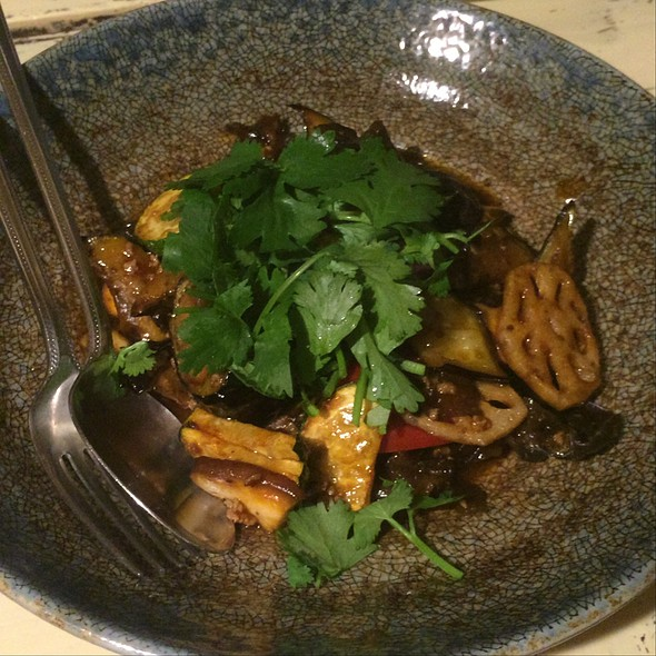 Eggplant and Lotus Root with Black Vinegar  @ Groovy Kitchen