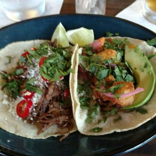 Fish And Shortrib Taco @ La  Principal