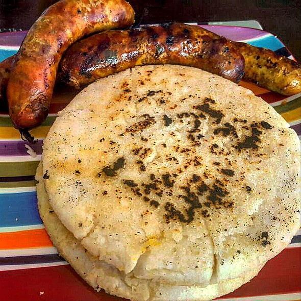 Arepas Con Chorizo @ Home