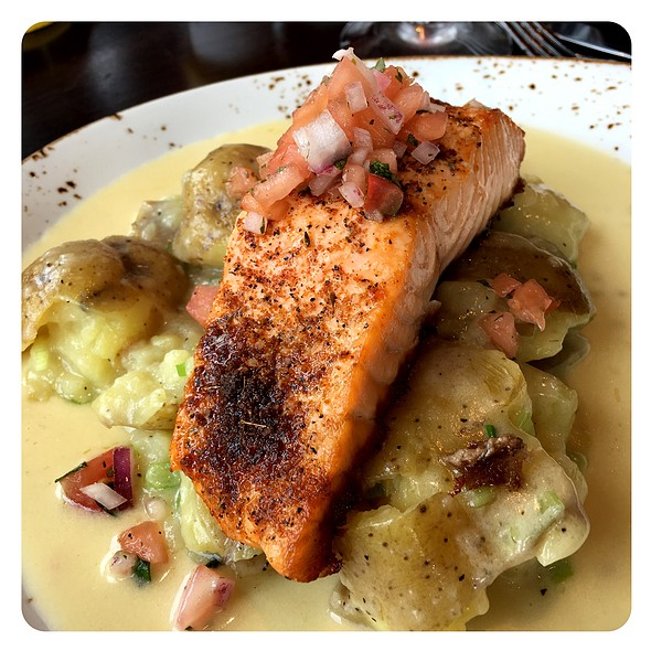 Roasted Sugar And Spice Salmon @ McWethy's Tavern