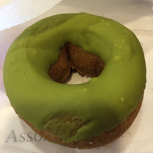 Green Tea Glazed Donut