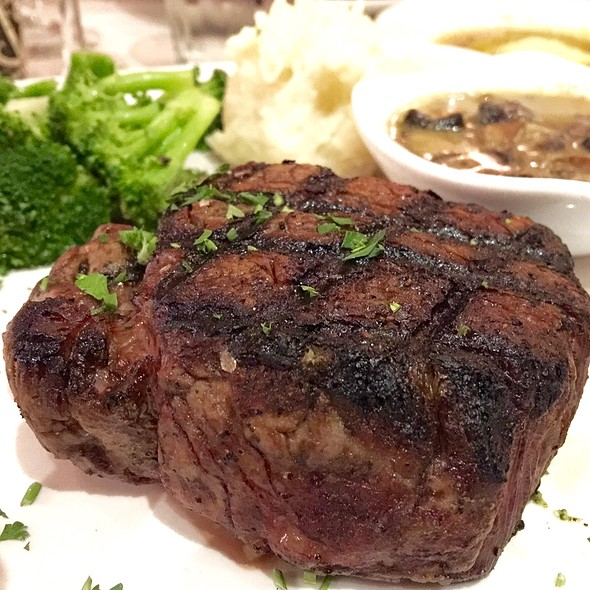 Filet Mignon / Jack Daniels Bourbon Sauce / Mushroom Sauce - Oyster Bay Seafood and Wine Bar, Las Vegas, NV