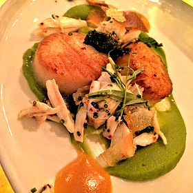 Seared Scallops, Lump Crab, Caviar