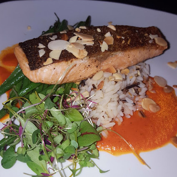 Salmon Rice @ Jimmy V's Steak House & Tavern