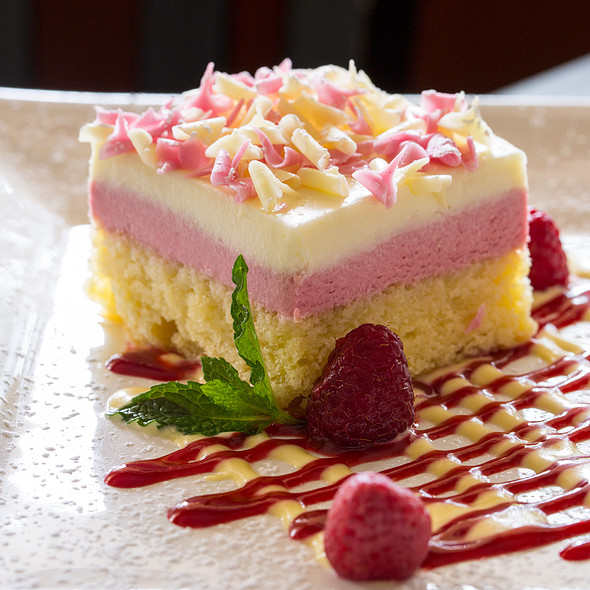 White Chocolate Raspberry Torte - Glenmorgan Bar & Grill at the Radnor Hotel, St. Davids, PA