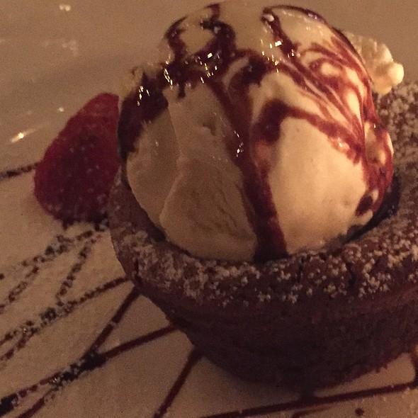 Chocolate Lava Cake with Vanilla Ice Cream - Harding's, New York, NY