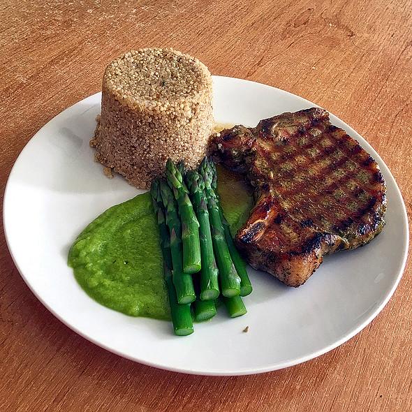 Grilled Pork Chop With Asparagus & Quinoa  @ Home @ Martin