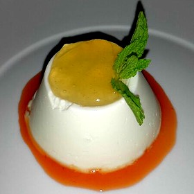 Lemon Panna Cotta With Marmalade And Grapefruit Coulee
