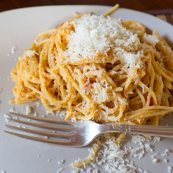 Spaghetti with fresh parmesan @ Villa Strelitzia