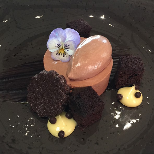 Valrhona dark chocolate mousse
