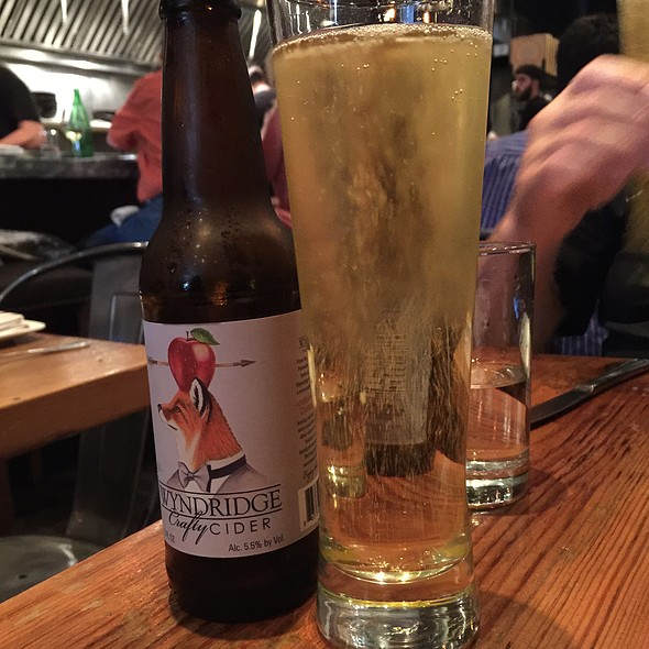 Wyndridge Crafty Cider @ Barbuzzo