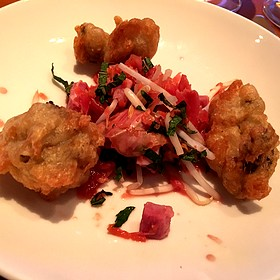 fried oysters - Passionfish, Pacific Grove, CA
