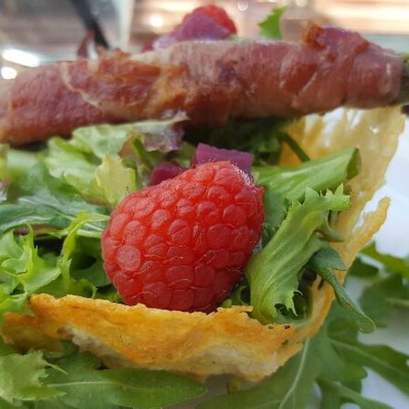 Parmesan Basket With Bacon Wrapped Asparagus  @ Becks Porsgrunn