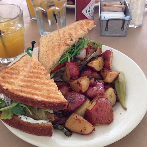 Eggplant and goat cheese sandwich @ Hominy Grill