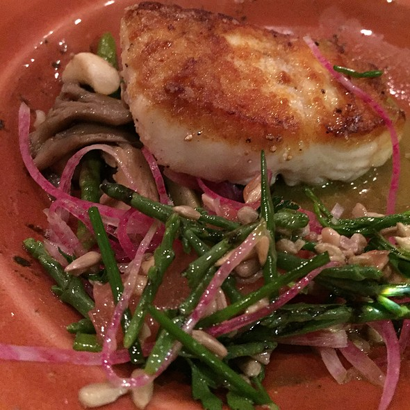 Halibut With Seabeans - Southpark Seafood, Portland, OR
