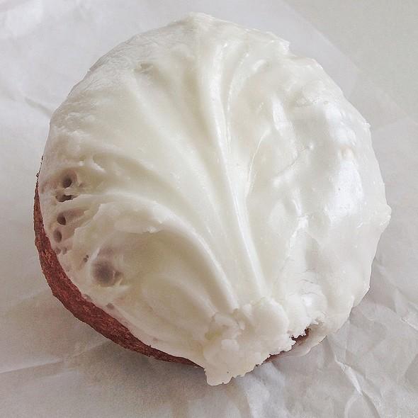 Coconut Iced Cake Donut @ Shipley Do-Nuts