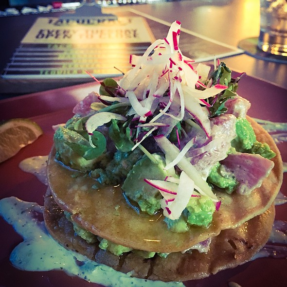 Tuna Avocado Tostada @ Taco Craft