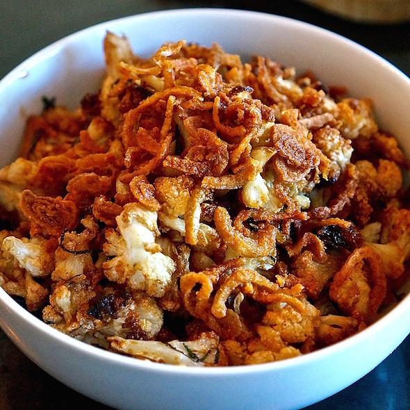 Roasted cauliflower, fish sauce caramel, crispy shallots, mint