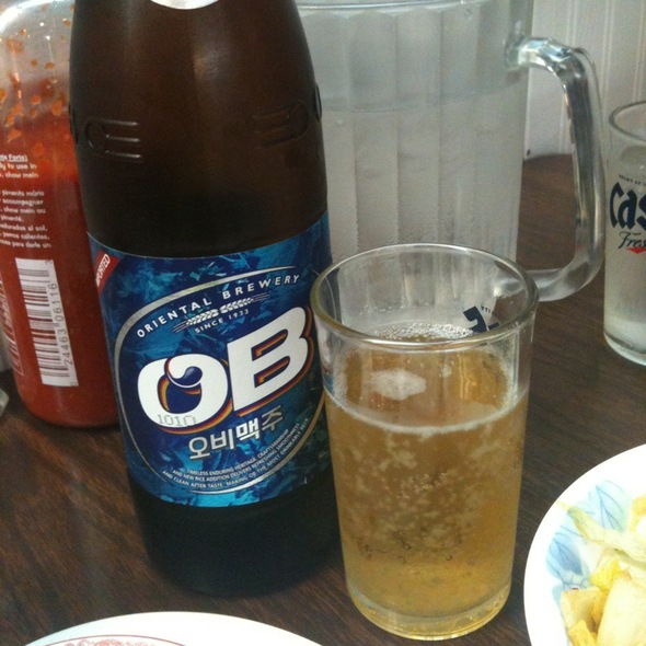 OB Beer @ Korea House-Concord