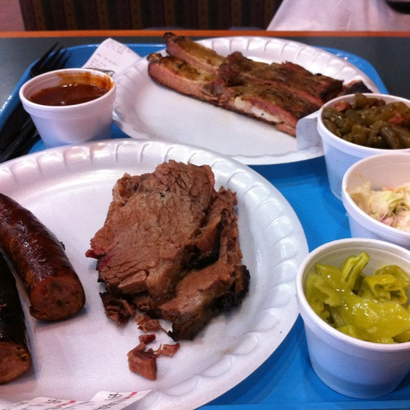 Brisket, Jalapeno Sausage, Ribs @ Burnet Feed Store And Barbecue