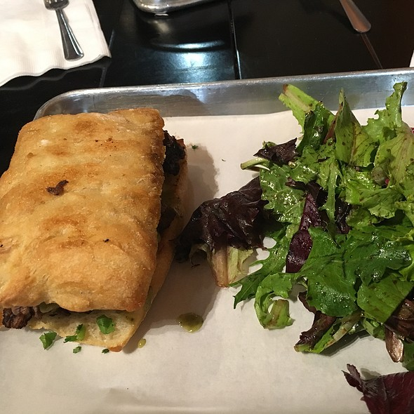 Steak Sandwich W/ Mixed Greens @ Meat Cellar