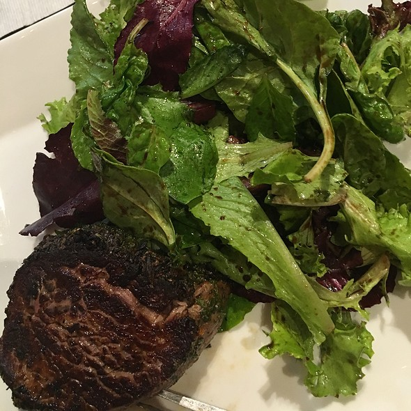 Herb Crusted Tenderloin & Mixed Greens @ Meat Cellar