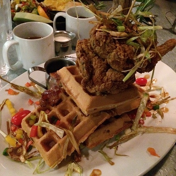 Andy's Sage Fried Chicken And Waffles @ Hash House A Go Go