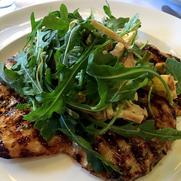 Chicken Paillard, Artichoke, Arugula, Pistachio - Cecconi's, West Hollywood, CA