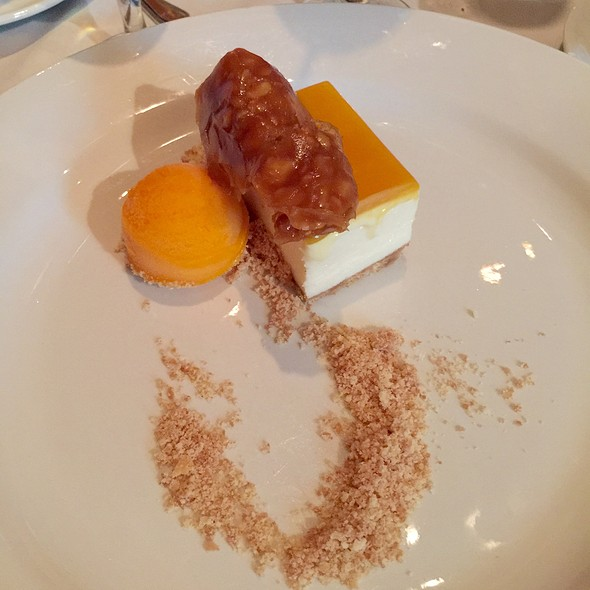 Cheesecake With Macadamia Brittle, Sorbet - Chamberlain's Fish Market Grill, Addison, TX