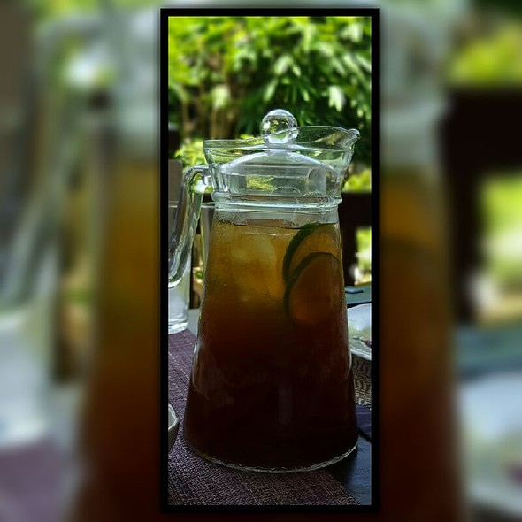 House Blend Iced Tea @ Lime and Basil Thai Restaurant