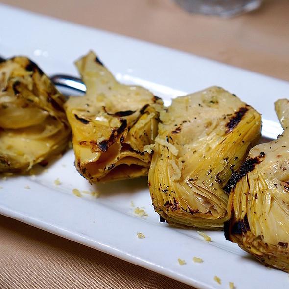 Grilled Artichokes - Avli Restaurant, Winnetka, IL