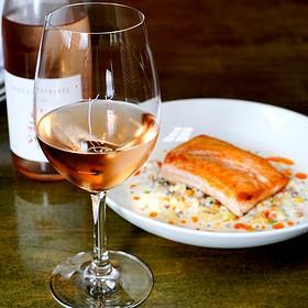 Seared King Salmon fillet - Soif Wine Bar Restaurant, Santa Cruz, CA