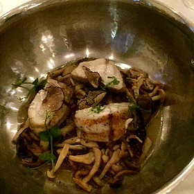 Roasted Monk Fish With Mushrooms And Truffles - Ostra, Boston, MA